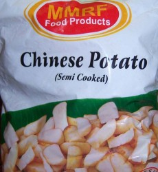 Chinese potato semi cooked